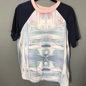 Liquid effect design t-shirt